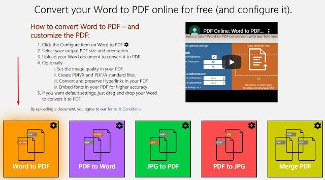 Cara Convert Word to Pdf Online Gratis