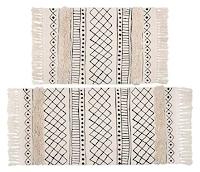 Boho cotton tassel rug set