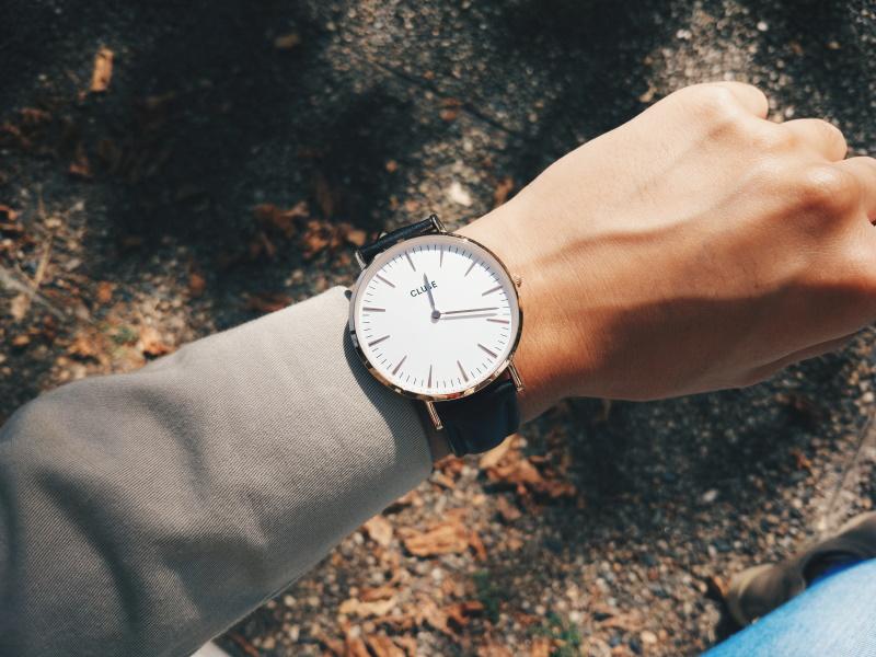 Oversized watch on small wrist