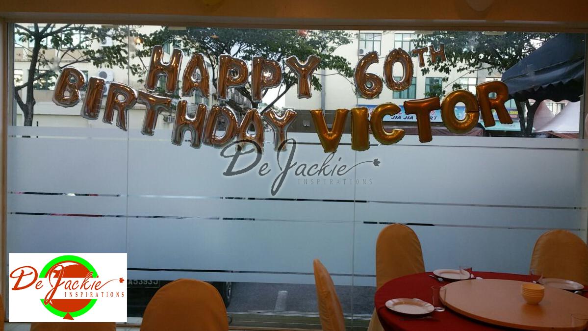 60th Birthday Backdrop Decoration