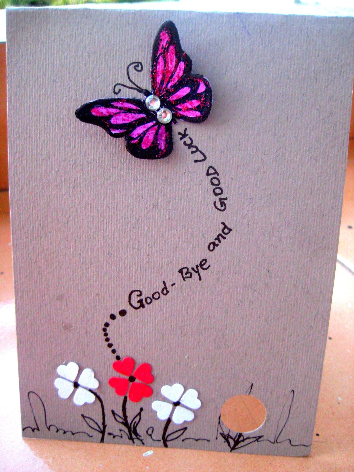 HappyMomentzz crafting by Sharada Dilip: Good Bye & All ...