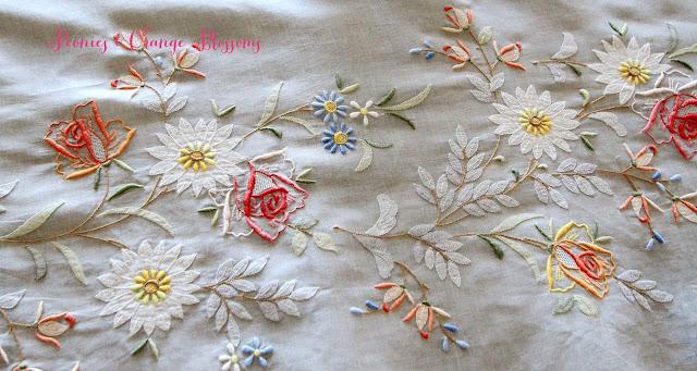 antique madeira table cloth