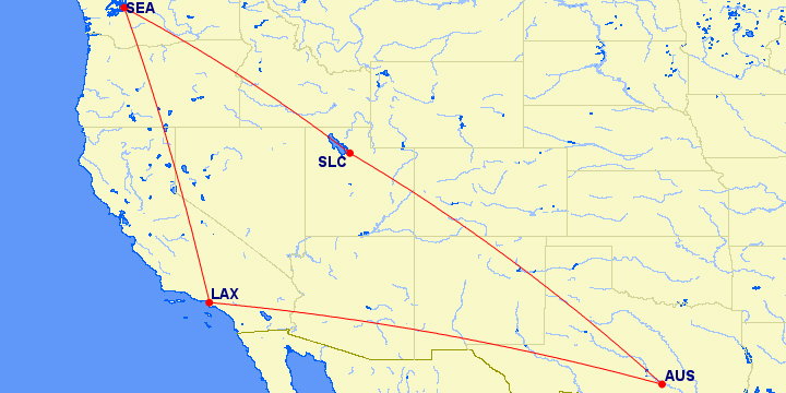 Austin to Seattle Same-Day Delta Air Lines Mileage Run Earn 3970 ...