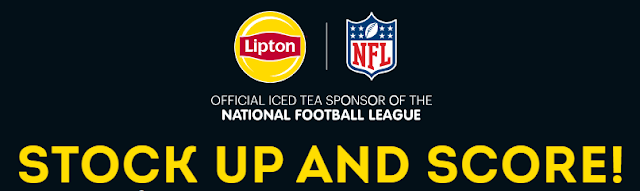 Lipton Tea has your chance to stock up and score! Not only can you get a free 12 pack of Lipton Iced Tea, but you'll be entered to win a trip to the Super Bowl!