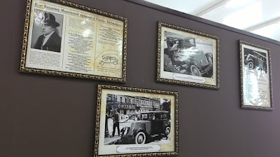 Один из стендов музея ретро-авто
