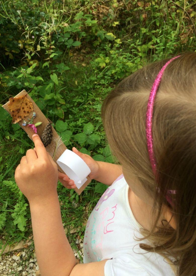 outdoor activities for kids - journey stick craft