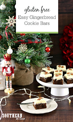 Easy Gluten Free Gingerbread Bars Recipe with Frosting