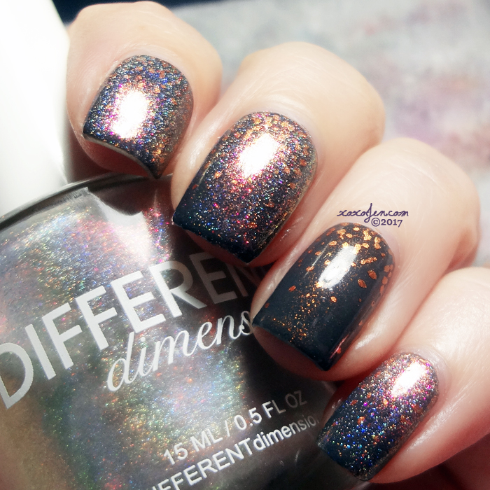 xoxoJen's swatch of Illyrian Gold Lion Different Dimension Cold As Ice