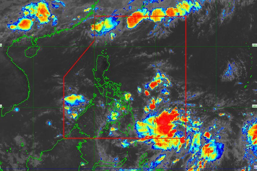 Satellite image of Tropical Depression 'Dante'