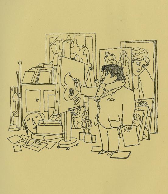 9281982c18d Le livre Dessins de 1923 contient ce portrait de Picasso dans l atelier