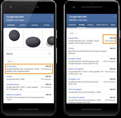 Google Supports Retailer Shipping Data
