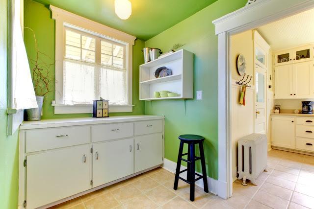 Cocinas de color verde colores en casa - Pintura de cocina ...