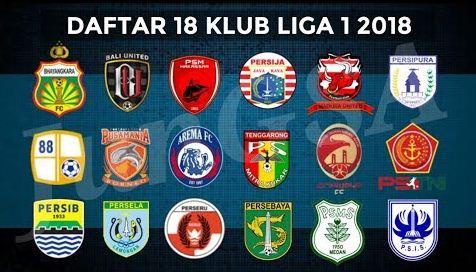 daftar 18 klub Liga 1 2018