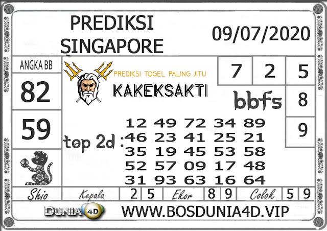 Prediksi Togel SINGAPORE DUNIA4D 09 JULI 2020