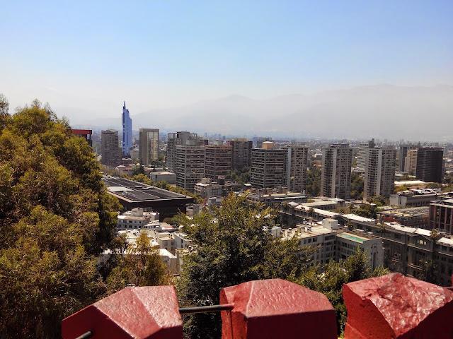 Vistas desde el Cerro de Santa Lucia, Santicago, Chile