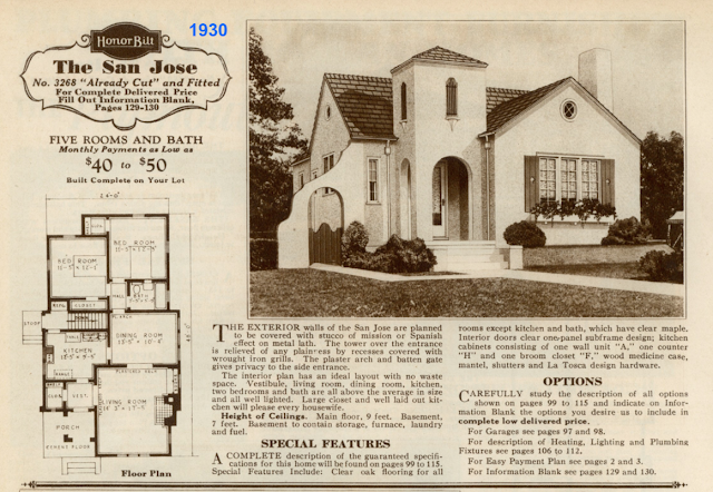 Sears San Jose in 1930 Sears Modern Homes catalog
