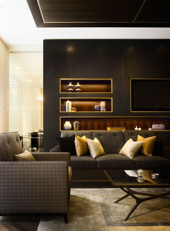grey gold family room