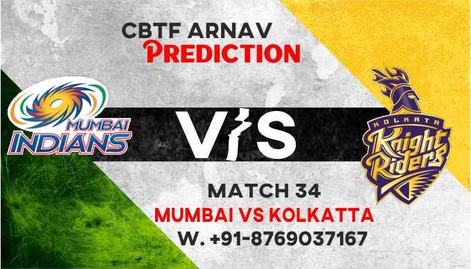 IPL 2021 KKR vs MI IPL T20 34th Match 100% Sure Match Prediction Today Tips