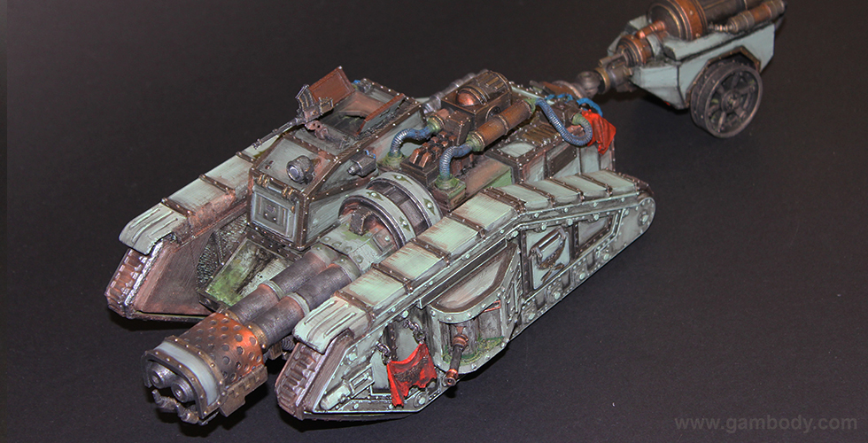 Warhammer 40K - Malcador Infernus Tank 3D Print Model | Assembly