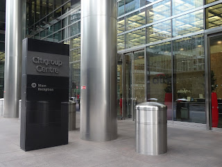 Pic of entrance area to Citibank in Canary Wharf, London