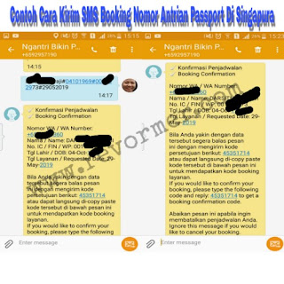 cara dapatkan kode booking antrian pembuatan passport di singapura