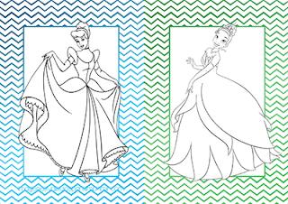 colorear princesas disney