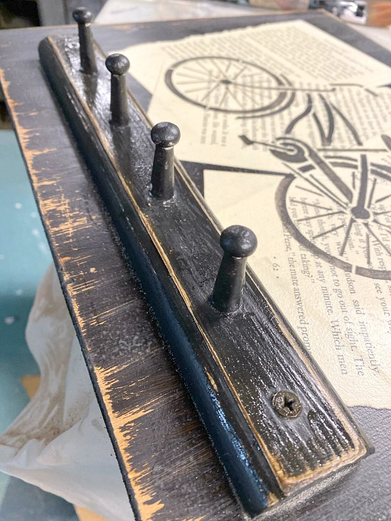 Stenciled Bicycle image herb drying rack