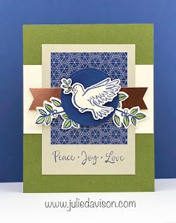 Stampin' Up! Dove of Hope Christmas Card ~ August-December 2020 Mini Catalog ~ www.juliedavison.com #stampinup