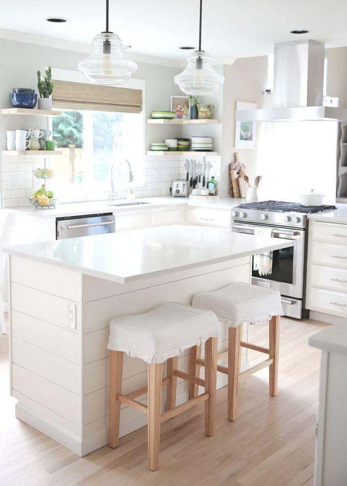 budget white kitchen remodel