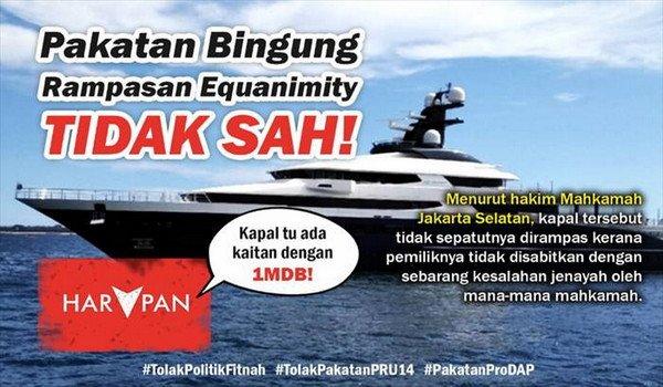 PRU14: Indonesia sahkan Equanimity tiada kaitan 1MDB