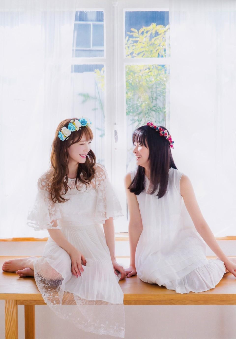 Kato Shiho 加藤史帆, Kageyama Yuuka 影山優佳, GIRLS PLUS 2018 VOL.03