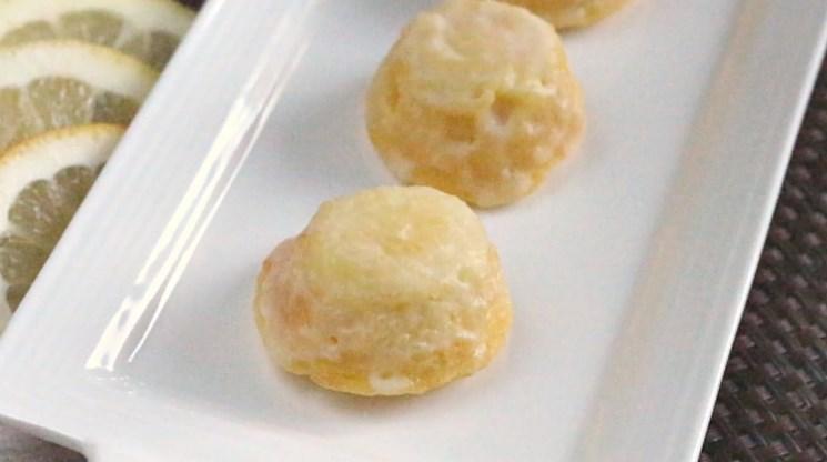 Little Lemon Drop Glazed Mini Cupcakes #easydessert #minicake