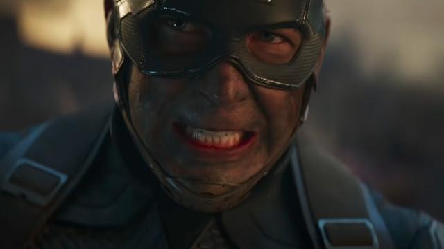 Captain America grimace