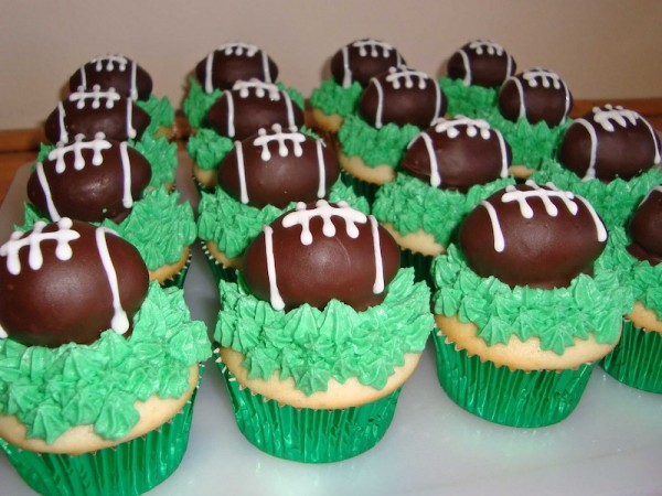 Chocolate Football Cake Toppers