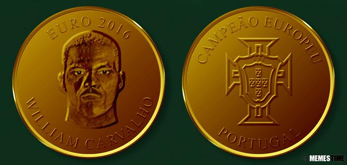 Meme com Medalha Comemorativa da Conquista do Euro 2016 pela Seleção Nacional de Portugal – William Carvalho