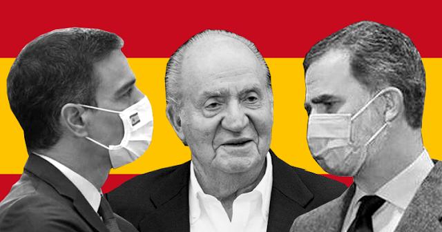 Pedro Sánchez, Juan Carlos y Felipe