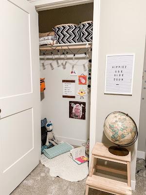 turn a closet into a kids hideout