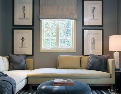 Linen, grey, slate  Linen colored sofa, Grey Walls, Slate colored pillows/throw
