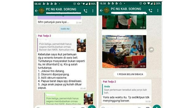 Rois Syuriah NU Sorong Ungkap Pertemuan Tuntutan Warga Papua Tak Singgung Banser