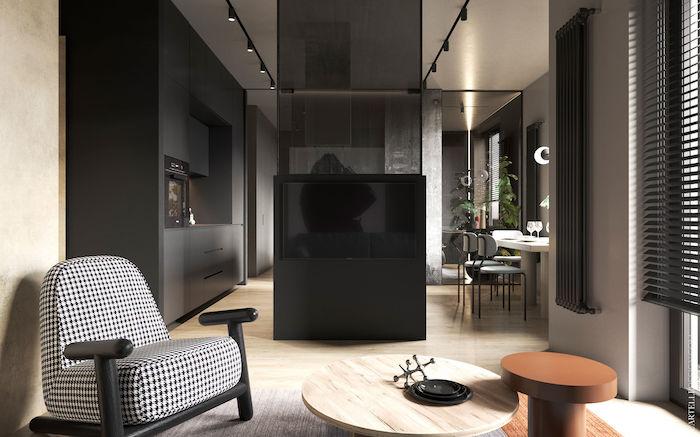 Salón con decoración moderna