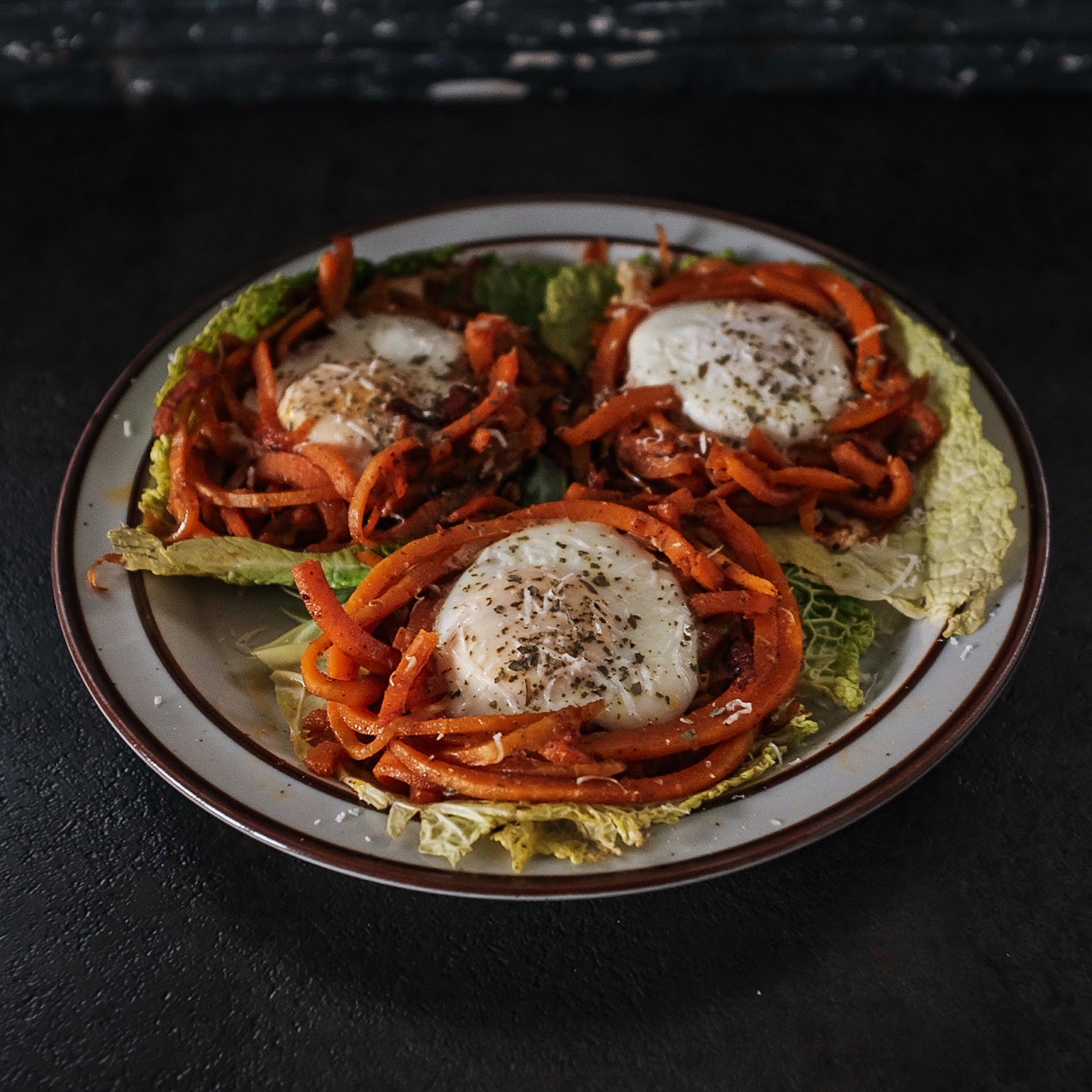 Butternut Squash Noodle Egg Nests | Local Food Rocks
