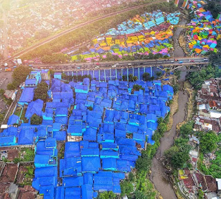 Foto drone Kampung Biru Arema