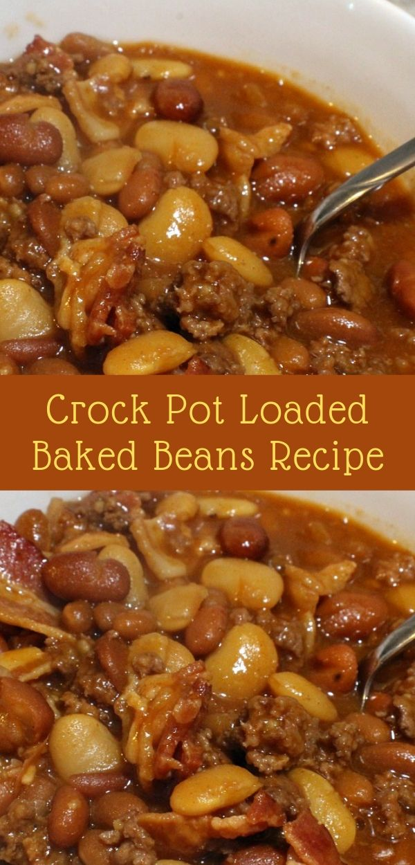 Crock Pot Loaded Baked Beans Recipe