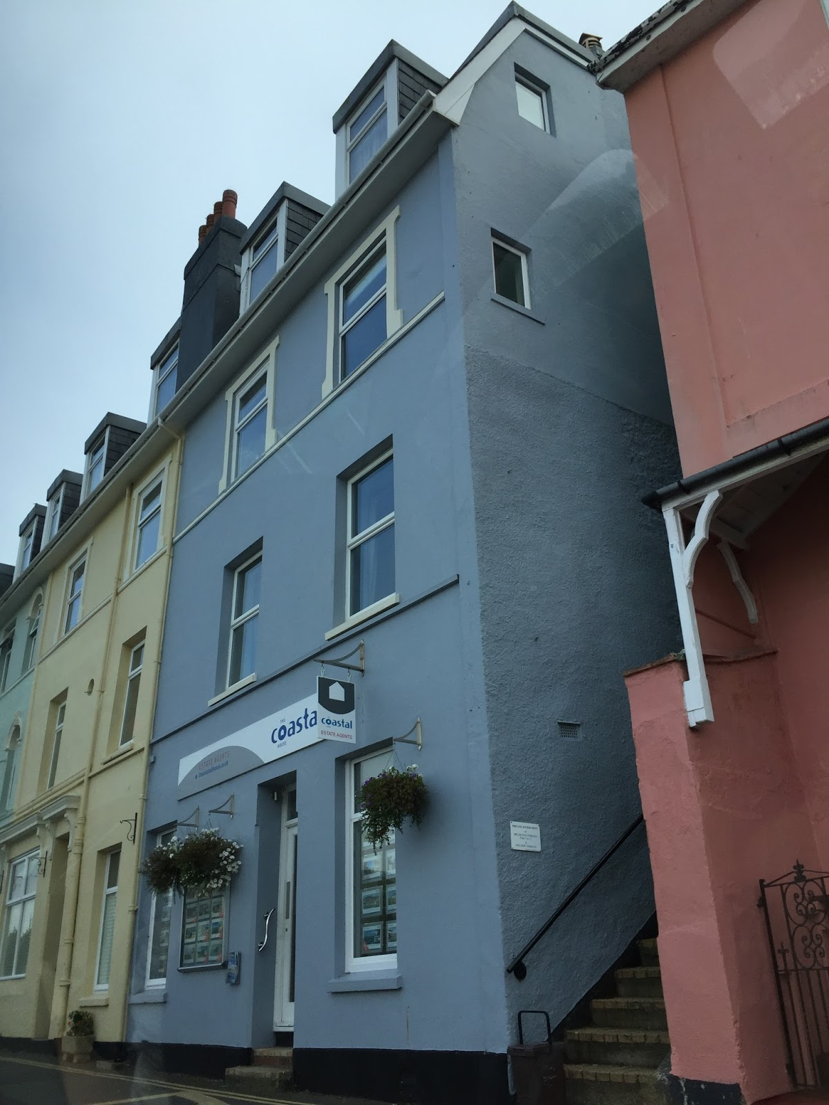 pastel houses Dartmouth
