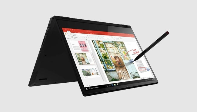 Best laptop by Lenovo for artists: Lenovo Flex 14 2-in-1 convertible.