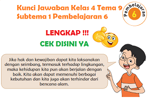 Kunci Jawaban Kelas 4 Tema 9 Subtema 1 Pembelajaran 6 www.simplenews.me