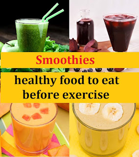 It is best to use smoothies before exercise.