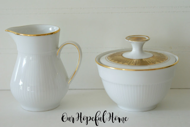 Thrifted Winterling Marktleuther sugar and creamer set midcentury modern tableware
