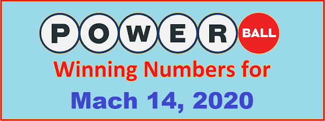 PowerBall Winning Numbers for Saturday, March 14, 2020