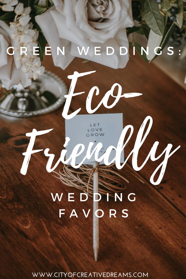 Green Wedding Eco Friendly Wedding Favors City Of Creative Dreams